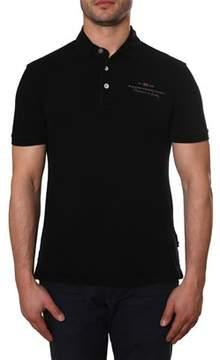 Napapijri Men's Black Cotton Polo Shirt.