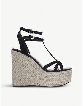 Miss KG Pamela faux-suede wedged sandals