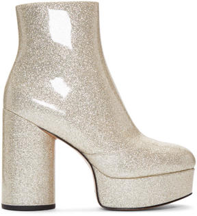 Marc Jacobs Gold Glitter Amber Boots