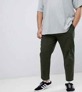 ONLY & SONS PLUS Cropped Chinos In Tapered Fit