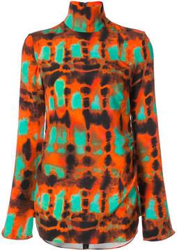 Ellery high neck printed blouse