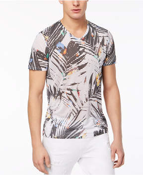GUESS Men's V-Neck Palm T-Shirt