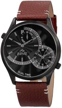 August Steiner Mens Brown Strap Watch-As-8167bkbr
