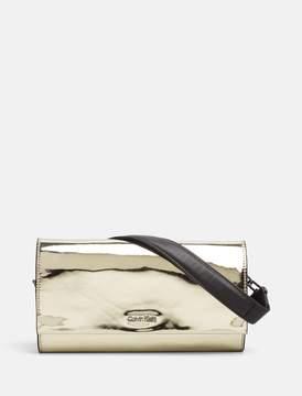 Calvin Klein shiny chain clutch