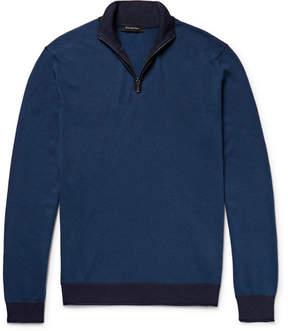 Ermenegildo Zegna Cotton And Silk-Blend Half-Zip Sweater
