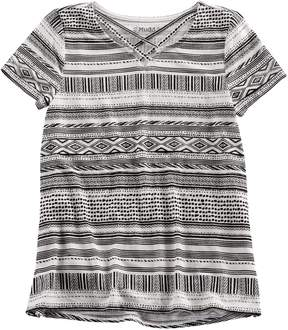 Mudd Girls 7-16 & Plus Size Cage Front Tee