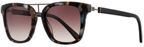 Balmain Modified Square Sunglasses