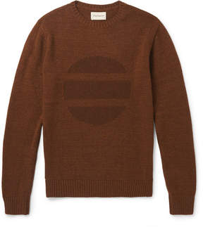 Oliver Spencer Intarsia Wool-Blend Sweater
