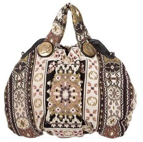 Gucci Tapestry Medium Hysteria Hobo - NEUTRALS - STYLE