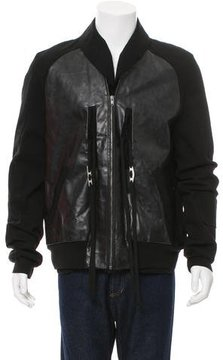 Damir Doma Zip-Up Leather Jacket w/ Tags