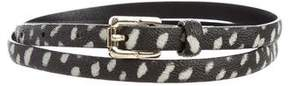 Tory Burch Printed Skinny Leather Belt