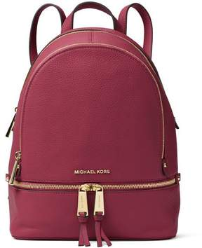 MICHAEL Michael Kors Rhea Middle Leather Backpack - RED - STYLE
