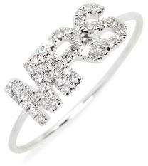 Ef Collection Women's Mrs. Diamond Ring