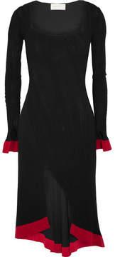 Esteban Cortazar Kira Split-front Stretch-knit Dress - Black