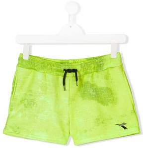 Diadora Junior logo print shorts