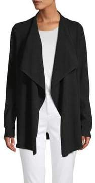 Saks Fifth Avenue BLACK Waterfall Cashmere Cardigan
