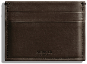 Shinola Five Pocket Card Case in Deep Brown