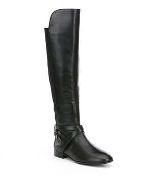 Antonio Melani Pesha Strap Buckle Detail Over The Knee Riding Boots