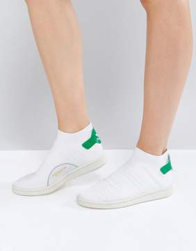 adidas White Stan Smith Primeknit Sock Sneakers