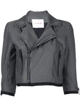 A.F.Vandevorst stripe cropped jacket