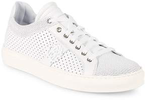 Roberto Cavalli Men's Perforated Leather Sneakers