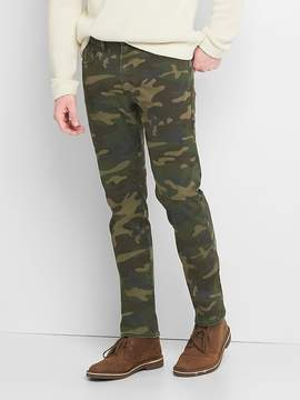 Gap Camo 5-pocket slim fit pants (stretch)