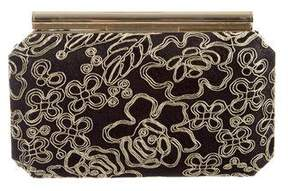 Oscar de la Renta Embroidered Clutch