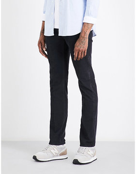 SLOWEAR Slim-fit straight stretch-cotton corduroy trousers