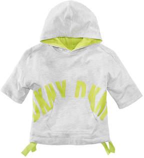 DKNY Short Sleeve Hoodie, Big Girls
