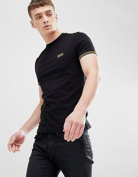 Barbour International Cable Tipped T-shirt in Black