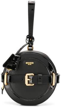 Moschino circular structured clutch bag