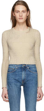 Brock Collection Beige Cropped Kacey Pullover