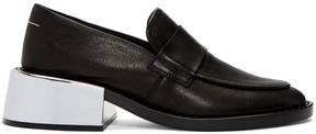 MM6 MAISON MARGIELA Black Metallic Heel Loafers