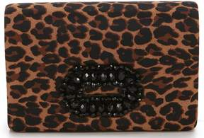 Adrianna Papell Kimberly Leopard Brooch Clutch