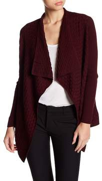 Chaus Long Sleeve Textured Knit Cardigan