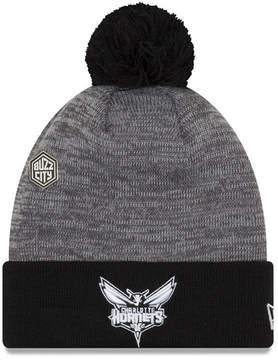 New Era Charlotte Hornets Pin Pom Knit Hat