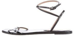 Alaia Patent Leather Wrap-Around Sandals