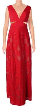 BCBGeneration BCBG Womens Marilyne Lace Cut-Out Evening Dress