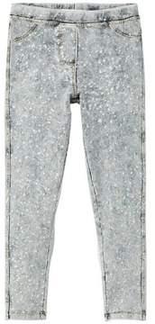 MANGO Paint design denim leggings