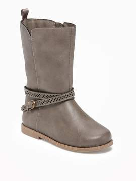 Old Navy Tall Buckled Boots for Toddler Girls