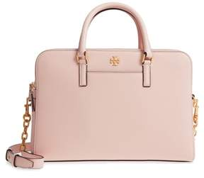 Tory Burch Georgia Double Zip Pebbled Leather Satchel - PINK - STYLE