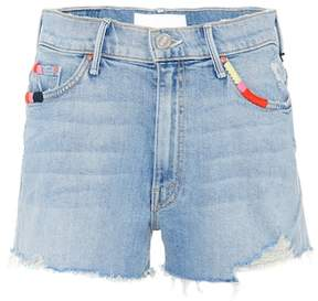 Mother Easy Does It denim shorts