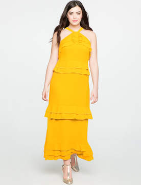 ELOQUII Studio Flounce Tiered Dress