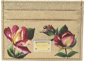 Dolce & Gabbana Leather Card Holder Handbags - GOLD - STYLE