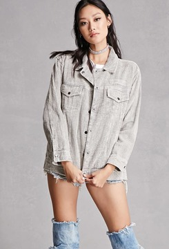 FOREVER 21 Corduroy Buttoned Jacket