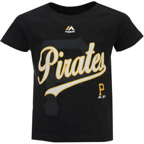 Majestic Pittsburgh Pirates The Game Cotton T-Shirt, Toddler Boys (2T-4T)