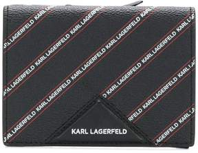 Karl Lagerfeld striped logo medium wallet