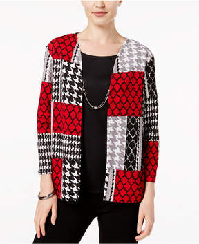Alfred Dunner Talk of The Town Layered-Look Necklace Top