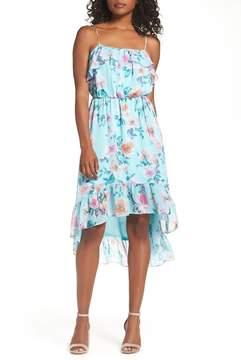 Charles Henry Eden Ruffle Blouson Dress (Regular & Petite)