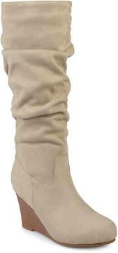 Journee Collection Women's Haze Wide Calf Wedge Boot